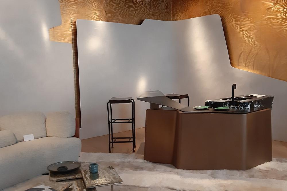 интерьер кухни на с выставки AD Interior в Париже, дизайн студия Bismut et Bismut, сентябрь 2019