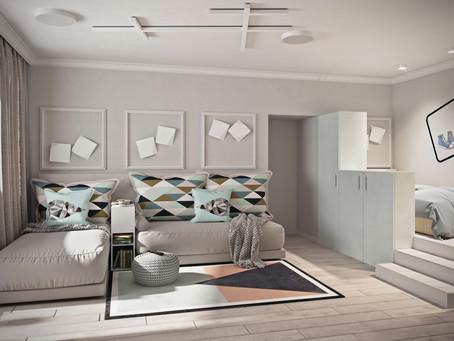 """Как разместить семью из трех человек в однокомнатной квартире? Покажу на примере проекта """"Геоме"""