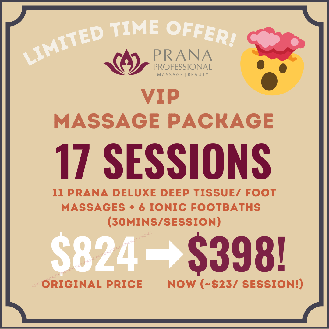 VIP Massage Package- 30mins x17 sessions