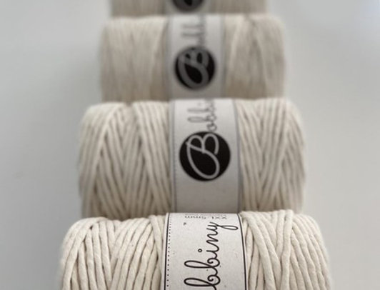5MM Single Twist Cotton Cord - 5 PACK