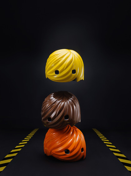 Helmet Hair - Yellow/Brown/Orange