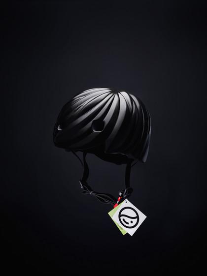 Helmet Hair - Black helmet