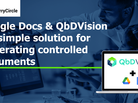 Google Docs & QbDVision - A simple solution for generating controlled documents