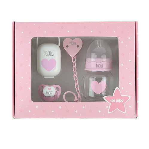 Caja mis básicos corazón rosa