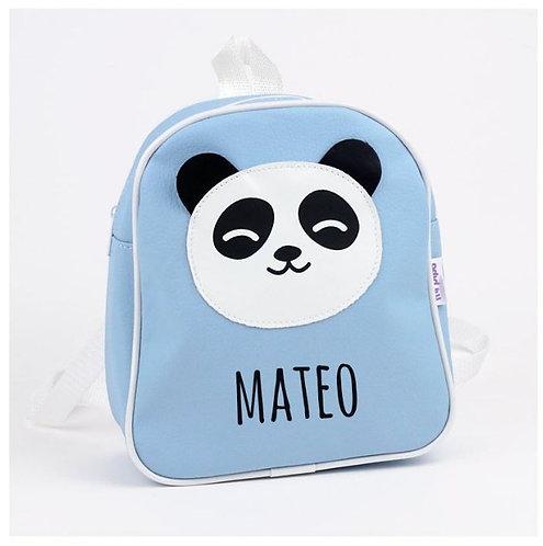 Mochila panda azul