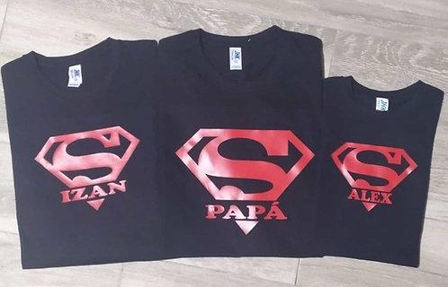 Conjunto frase/dibujo superman