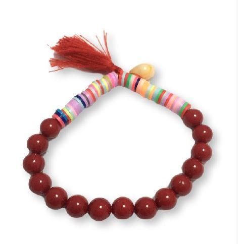 Pulsera katsuki perlas-rojo