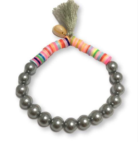Pulsera katsuki perlas-gris