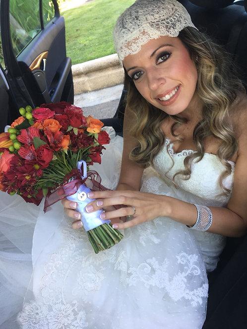 Chapita ramo de novia PLATA