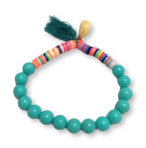 Pulsera katsuki perlas-turquesa