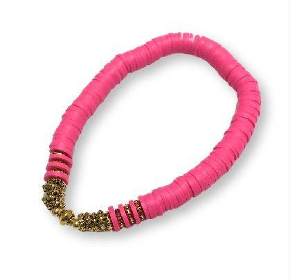 Pulsera katsuki dorado-rosa
