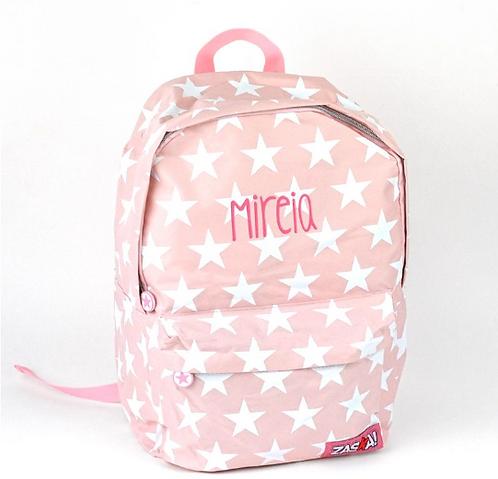 Mochila junior estrellas rosa