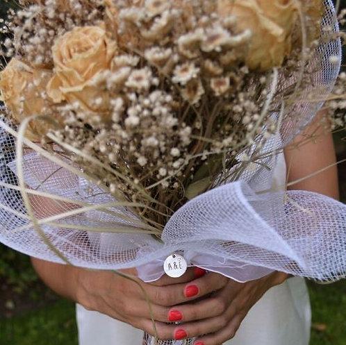 Chapita ramo de novia acero