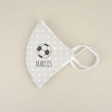 Mascarilla Higiénica reutilizable Personalizada Balón Fútbol