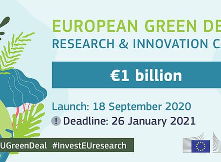 Horisont 2020 Green Deal er lansert