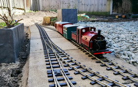 Prince arrives into Aughtonside with the first passenger train