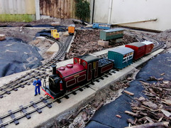 Prince Prepares to haul the Opening Train