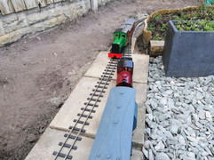 First time passenger trains passing at Aughtonside
