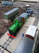 Rufford Hall prepares to haul morning P-Way train