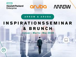 Invitation til Aruba & Arrow inspirationsseminar & brunch 18 & 19. marts 2020