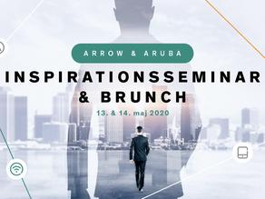 Invitation til Aruba & Arrow inspirationsseminar & brunch 13. & 14. maj 2020 - Ny dato!
