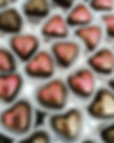 B Chocolates hearts for Valentine's Day
