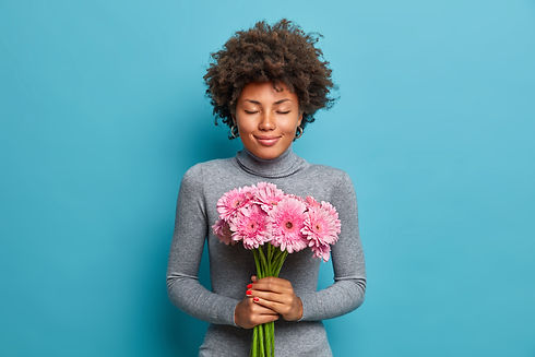pleased-romantic-afro-american-woman-hol