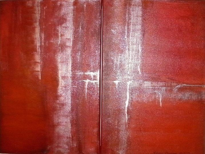 diptico arena roja y metal