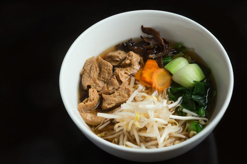 Vegetarian Duck Noodle bowl