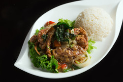 Fried Soft Shell Crab with BasilSauce