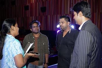 With Yuvan Shankar Raja, Ike Radha and G