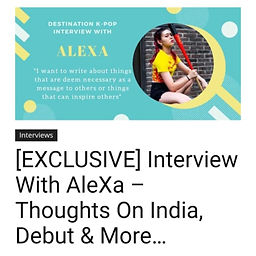 Interview with AleXa
