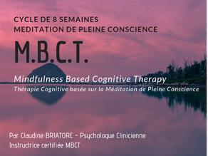 Cycle de Pleine Conscience MBCT