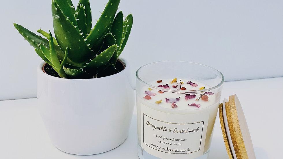 Honeysuckle & Sandalwood Glass Candle