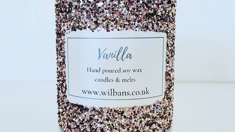 Vanilla Glitz Candle