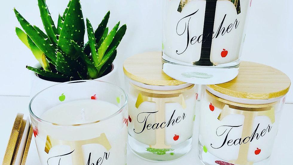 'Teacher' Glass Candles