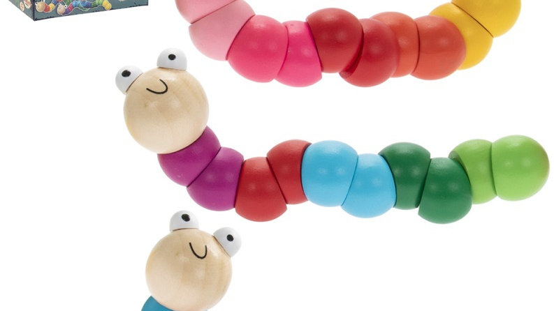 Retro Wooden Wiggly Worms
