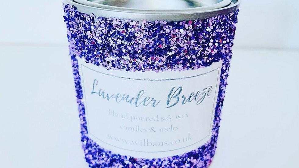 Lavender Breeze Glitz Candle