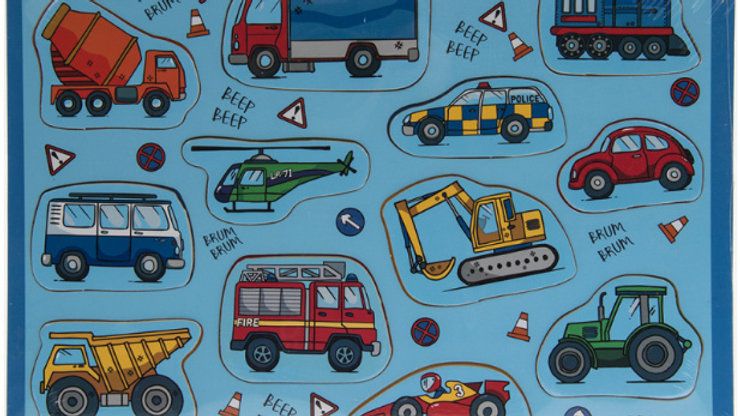Wooden Vehicles Puzzle