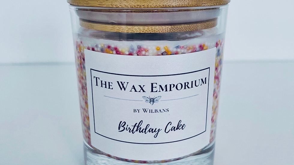 Birthday Cake Glass Candle