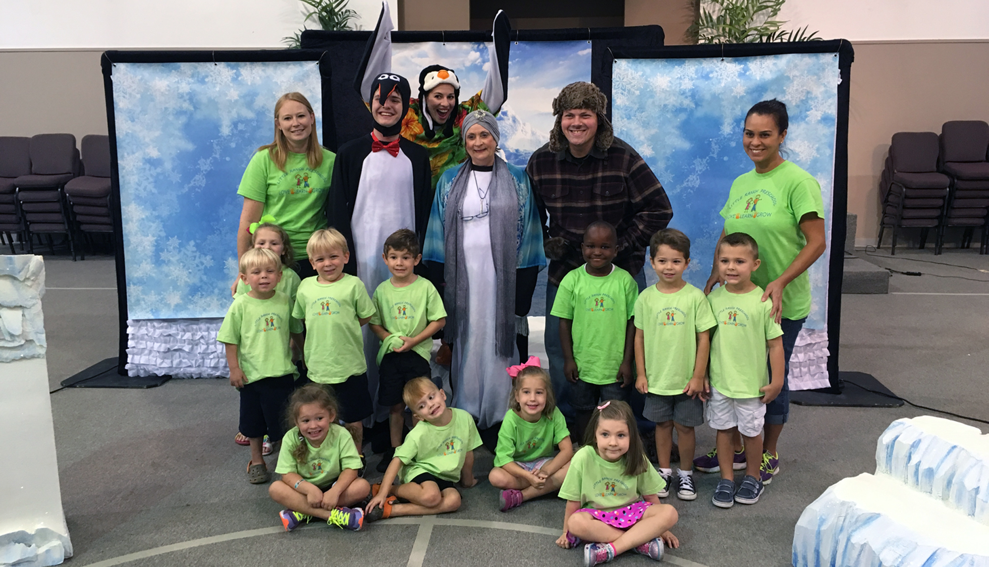 Tacky the Penguin with preschool