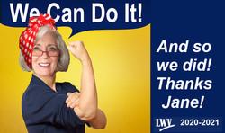 meme of our president as Rosie the Riveter