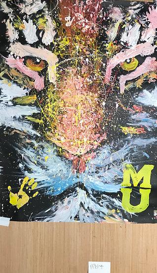 "Missouri University Tiger 36""x48"" On Paper"