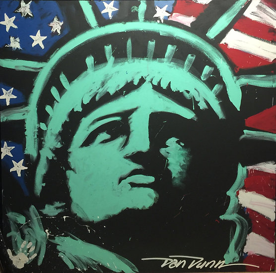 "72""x72"" Lady Liberty Acrylic on Canvas"