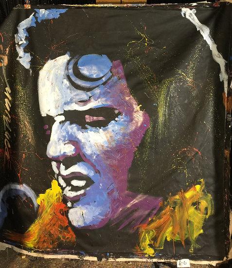 """84""""x84"""" Elvis Acrylic on Canvas"""