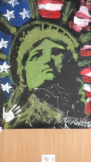 "Lady Liberty 36""x48"" On Paper"