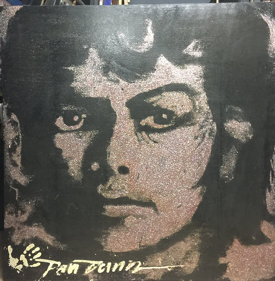 "Michael Jackson 60""x60"" Glitter on Stretched Canvas"