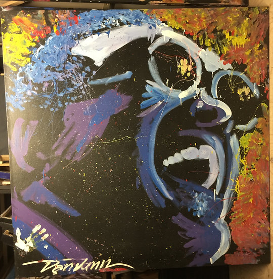"""Ray Charles 60""""x60"""" On Stretched Canvas"""