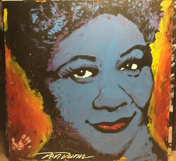 "Ella Fitzgerald 60""x60"" On Stretched Canvas"