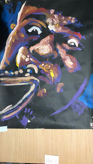 """Louie Armstrong 36""""x48"""" On Paper"""